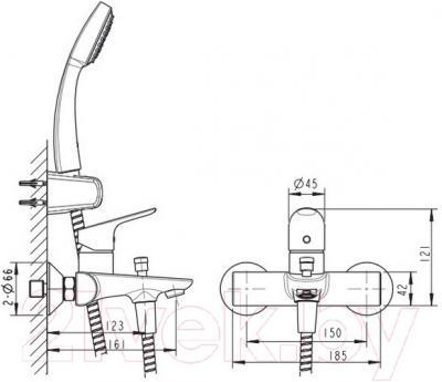 Смеситель Bravat Drop-D F648162C-01
