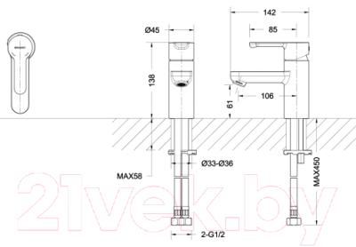 Смеситель Bravat Stream F13783C-2
