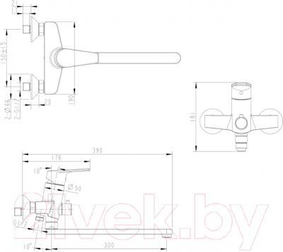 Смеситель Bravat Line F65299C-1L