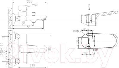 Смеситель Bravat Pure F6105161C-01