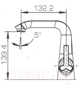 Смеситель Bravat Waterfall F173107C-1