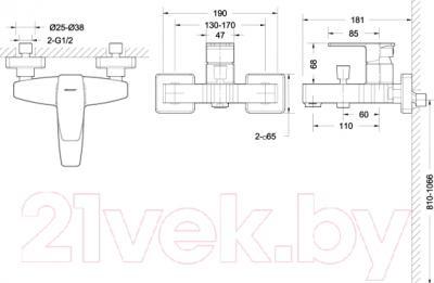 Смеситель Bravat Riffle F672106C-01