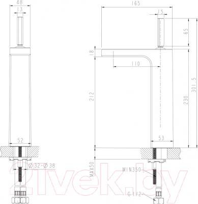 Смеситель Bravat Spring F179113C-A - схема