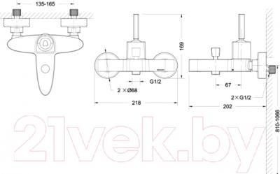 Смеситель Bravat Spring F679113C-01 - схема