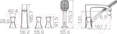 Смеситель Bravat Whirlpool F578112C