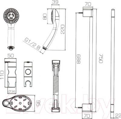 Душевой гарнитур Bravat Eco SS152CP-3