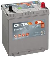 Автомобильный аккумулятор Deta Senator3 DA386 (38 А/ч) -