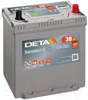 Автомобильный аккумулятор Deta Senator3 DA386 (38 А/ч)