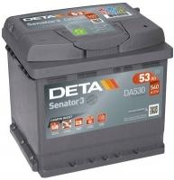 Автомобильный аккумулятор Deta Senator DA530 (53 А/ч) -