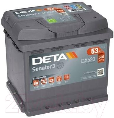 Автомобильный аккумулятор Deta Senator DA530 (53 А/ч)