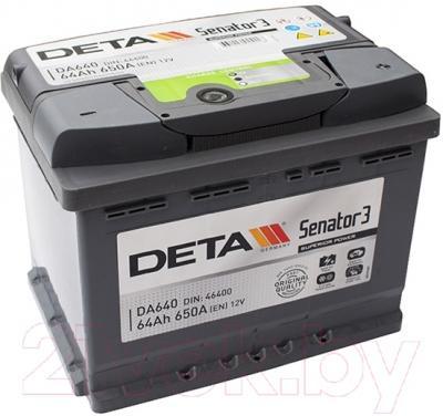 Автомобильный аккумулятор Deta Senator3 DA640 (64 А/ч)