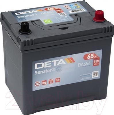 Автомобильный аккумулятор Deta Senator3 DA654 (65 А/ч)