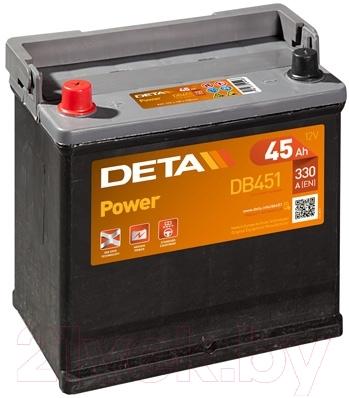 Автомобильный аккумулятор Deta Power DB451 (45 А/ч)