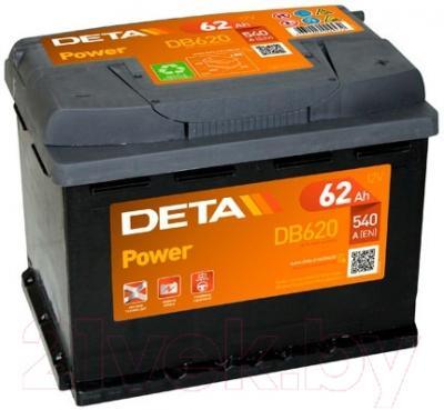 Автомобильный аккумулятор Deta Power DB620 (62 А/ч)