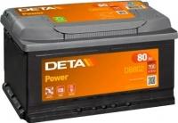 Автомобильный аккумулятор Deta Power DB802 (80 А/ч) -