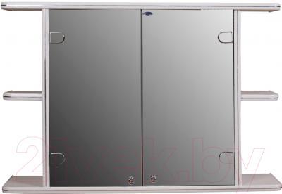 Шкаф с зеркалом для ванной Гамма 11 (белый)