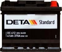 Автомобильный аккумулятор Deta Standard DC412 (41 А/ч) -
