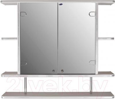 Шкаф с зеркалом для ванной Гамма 11/1 (белый)