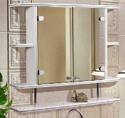 Шкаф с зеркалом для ванной Гамма 11/1 (белый) - в интерьере