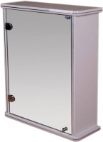 Шкаф с зеркалом для ванной Гамма 13 (белый, левый) -