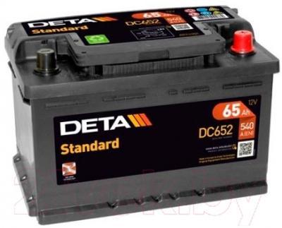Автомобильный аккумулятор Deta Standard DC652 (65 А/ч)