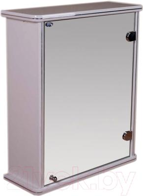 Шкаф с зеркалом для ванной Гамма 13 (белый, правый)