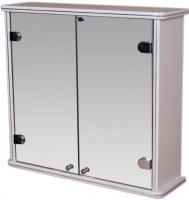 Шкаф с зеркалом для ванной Гамма 14 (белый) -