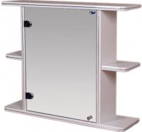 Шкаф с зеркалом для ванной Гамма 15 (белый, левый) -