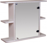 Шкаф с зеркалом для ванной Гамма 15 (белый, правый) -