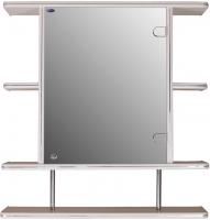 Шкаф с зеркалом для ванной Гамма 15/1 (белый, правый) -
