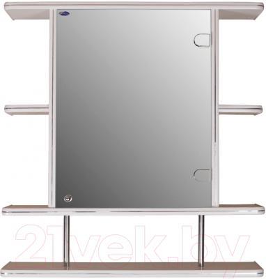 Шкаф с зеркалом для ванной Гамма 15/1 (белый, правый)