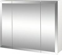 Шкаф с зеркалом для ванной Гамма 17 (белый) -