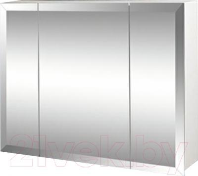 Шкаф с зеркалом для ванной Гамма 17 (белый)