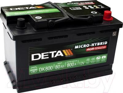 Автомобильный аккумулятор Deta Micro-Hybrid AGM DK800 (80 А/ч)