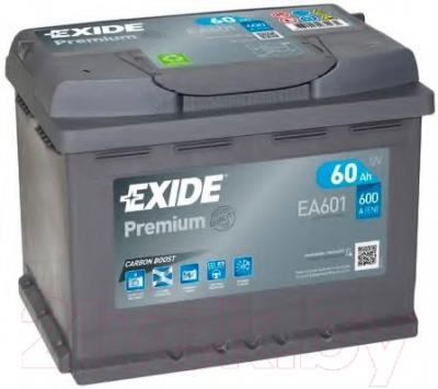 Автомобильный аккумулятор Exide Premium Carbon Boost EA601 (60 А/ч)