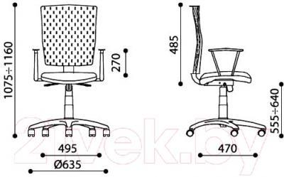 Кресло офисное Новый Стиль Evolution R (OH/5, ZT-13) - размеры