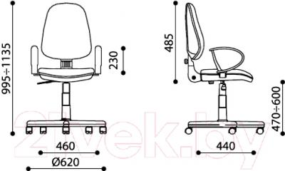 Кресло офисное Nowy Styl Grand GTP Ergo (C-24) - размеры