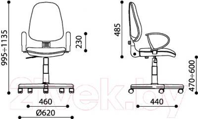 Кресло офисное Nowy Styl Grand GTP Ergo P (ZT-15) - размеры