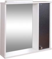 Шкаф с зеркалом для ванной Гамма 08т (черный металлик, правый) -