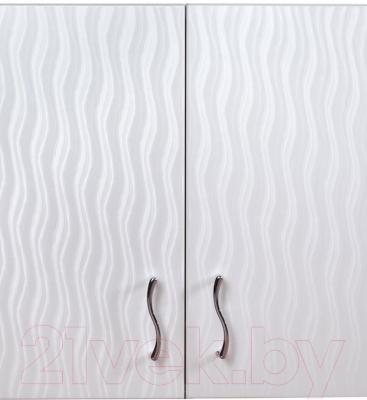 Шкаф для ванной Гамма 40.06 Ф2 (волна)