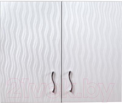Шкаф для ванной Гамма Люкс 41.06 Ф2 (волна)