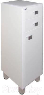 Шкаф-полупенал для ванной Гамма 31.25 оФ2 (белый, с ящиком, правый)