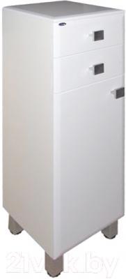 Шкаф-полупенал для ванной Гамма 31 оФ2 (белый, левый)