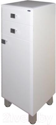 Шкаф-полупенал для ванной Гамма 31 оФ2 (белый, правый)