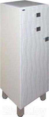 Шкаф-полупенал для ванной Гамма 31 оФ2 (волна, правый)