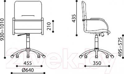 Кресло офисное Новый Стиль Samba GTP S (V-47) - размеры