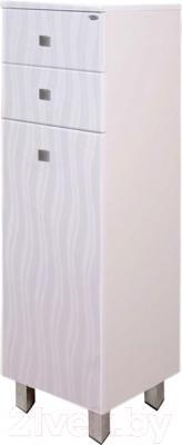 Шкаф-полупенал для ванной Гамма 31 о/кФ2 (волна)