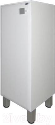 Шкаф-полупенал для ванной Гамма 30.30 оФ2 (белый, с ящиком, левый)