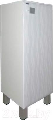 Шкаф-полупенал для ванной Гамма 30.30 оФ2 (волна, с ящиком, правый)