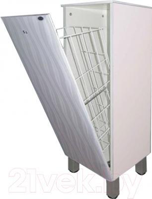 Шкаф-полупенал для ванной Гамма 30.30 о/к Ф2 (волна)